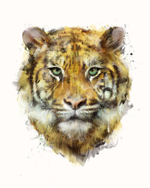Wall Art - Painting - Tiger // Strength by Amy Hamilton