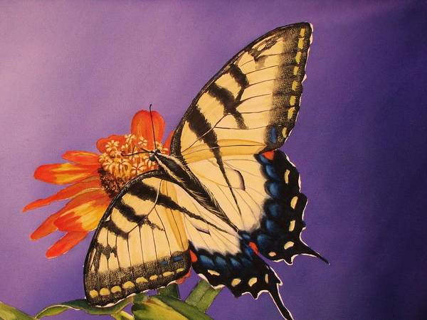 Painting - Tiger Swallowtail by Greg and Linda Halom