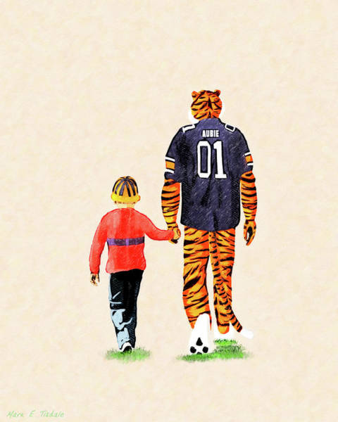 Mixed Media - Tiger Tales From Auburn by Mark Tisdale