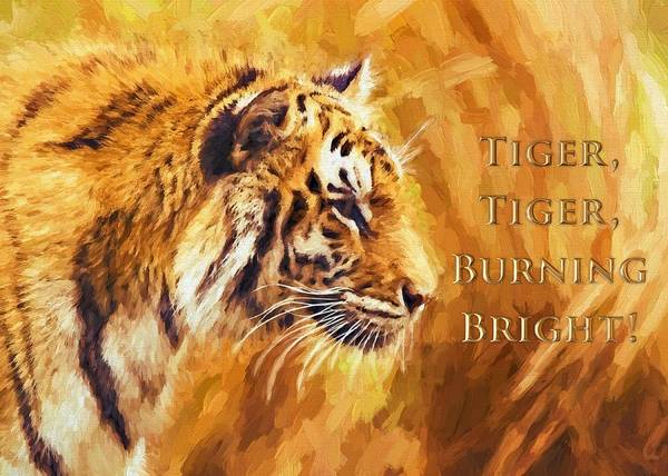 Tiger Tiger Burning Bright Art Print
