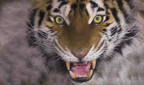 Painting - Tiger Tiger - Painting by Ericamaxine Price