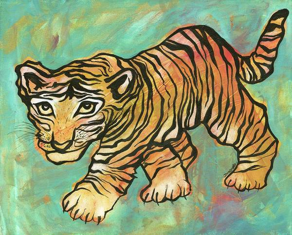 Painting - Tiger Trance by Darcy Lee Saxton