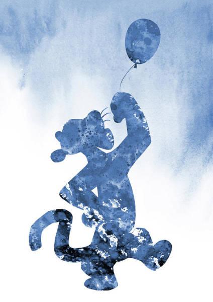 Wall Art - Digital Art - Tigger-blue by Erzebet S