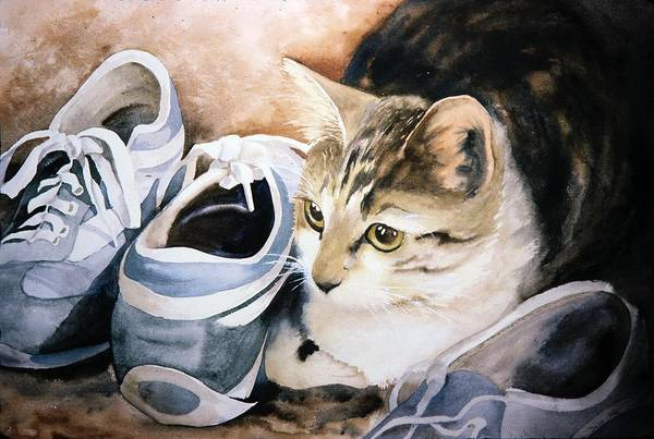 Tigger With Sneakers Art Print