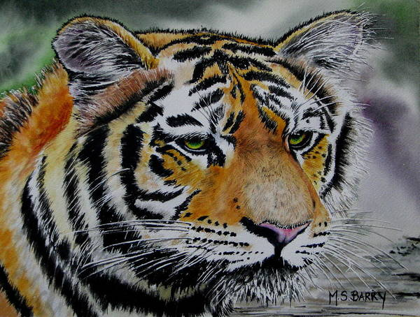 Wall Art - Painting - Tiggy by Maria Barry