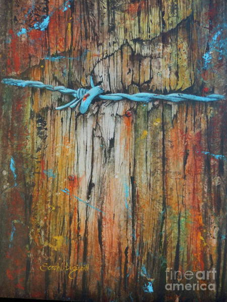 Fencepost Painting - Tight by Sarah Luginbill