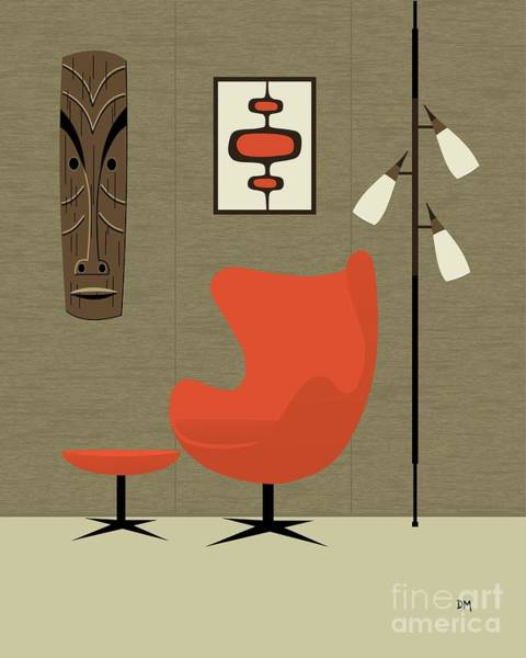 Digital Art - Tiki On Wall by Donna Mibus
