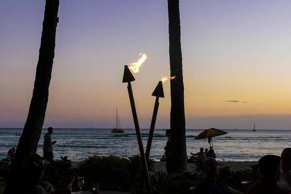 Photograph - Tiki Torches At Sunset by NaturesPix