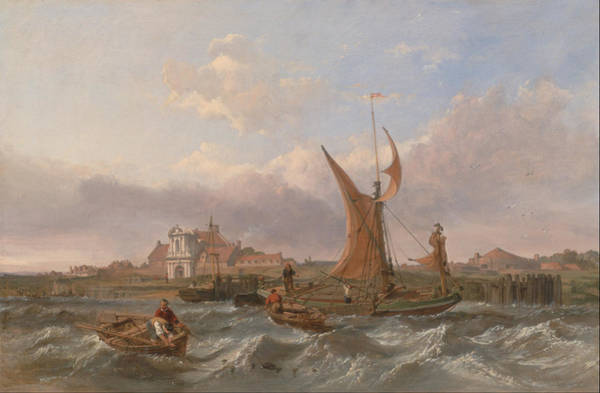 Tsunami Painting - Tilbury Fort by Clarkson Frederick Stanfield