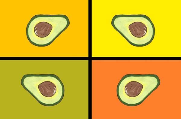 Avocado Mixed Media - Tiled Avocado by Kathleen Sartoris