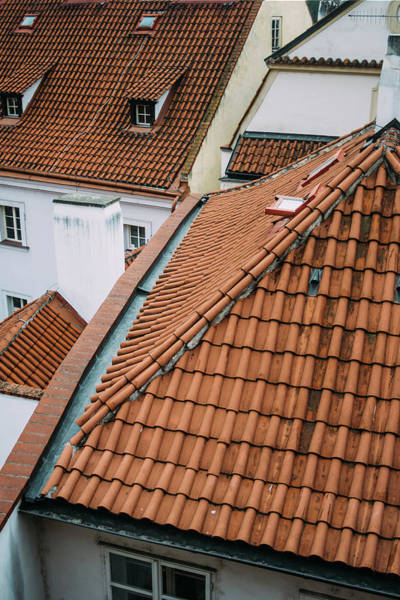 Wall Art - Photograph - Tiled Roofs Rooftop View by Pati Photography