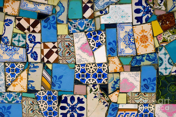 Glazed Wall Art - Photograph - Tiles Fragments by Carlos Caetano