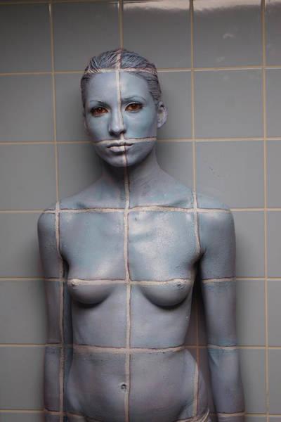 Bodypaint Wall Art - Painting - Tiles by Johannes Stoetter