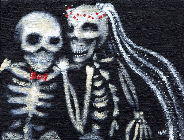 White Zombie Painting - Till Death by Ida Kendall