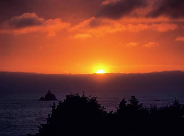 Photograph - Tillamook Rock Sunset by Robert Potts