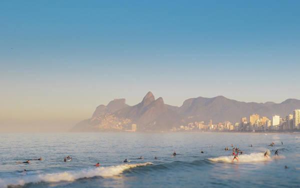 Photograph - Tilt Shift Surfer In Arpoador, Rio De Janeiro, Brazil by Alexandre Rotenberg