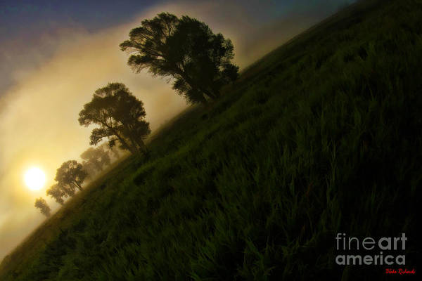 Photograph - Tilted Foggy Sunrise by Blake Richards