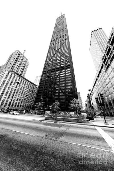 Photograph - Tilted John Hancock Building Chicago by John Rizzuto