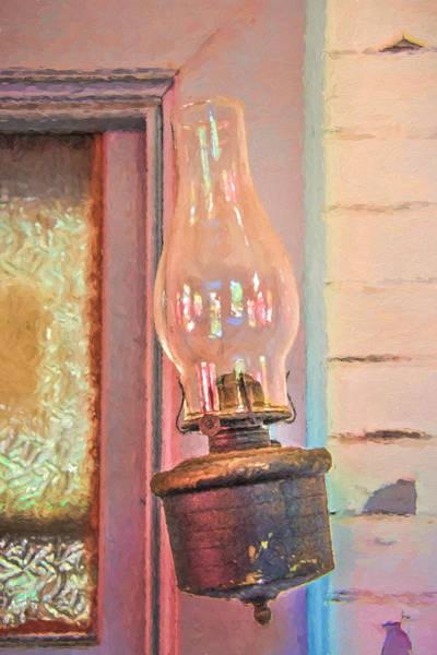 Photograph - Tilted Outdoor Kerosene Lamp by Gary Slawsky