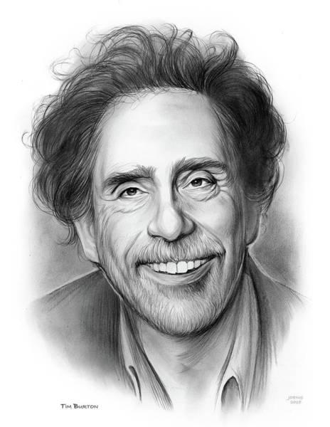 Tim Burton Wall Art - Drawing - Tim Burton by Greg Joens