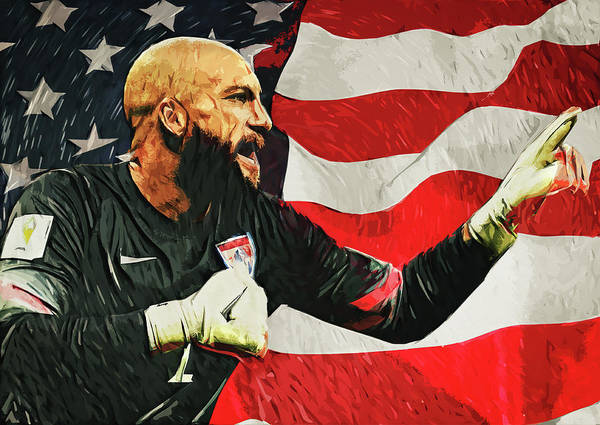 Digital Art - Tim Howard by Zapista Zapista