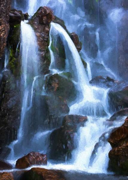 Timberline Falls Art Print