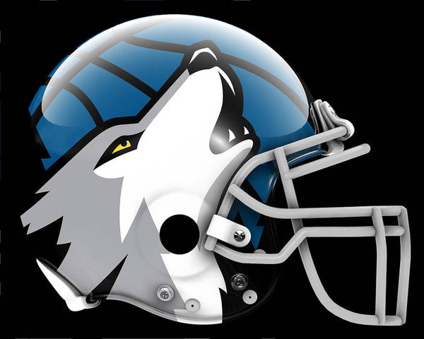 Minnesota Painting - Timberwolves What If Its Football by Joe Hamilton