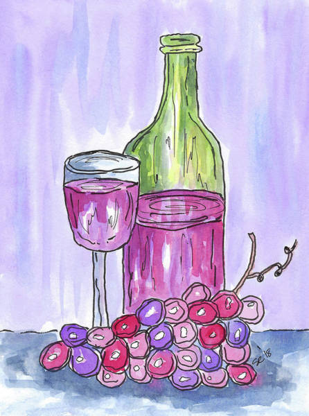 Painting - Time For Some Wine by Susan Campbell