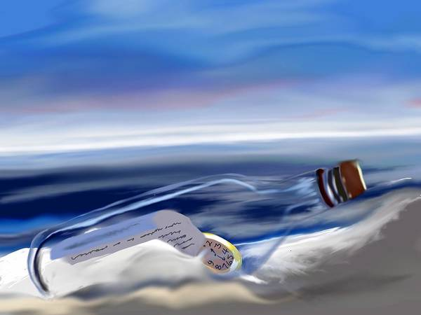 Time In A Bottle Art Print