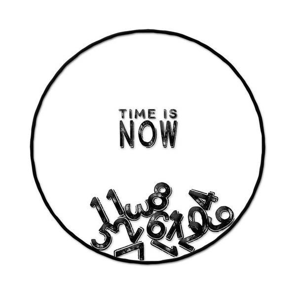 Digital Art - Time Is Now Clock by Christina VanGinkel