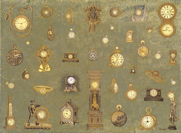Grandfather Clock Painting - Time Keeps On Ticking by Lorin Zerah