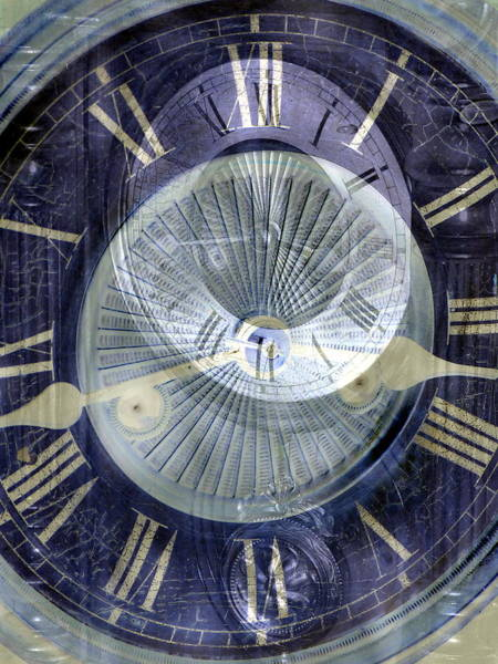 End Times Digital Art - Time Marches On by Abstract Angel Artist Stephen K