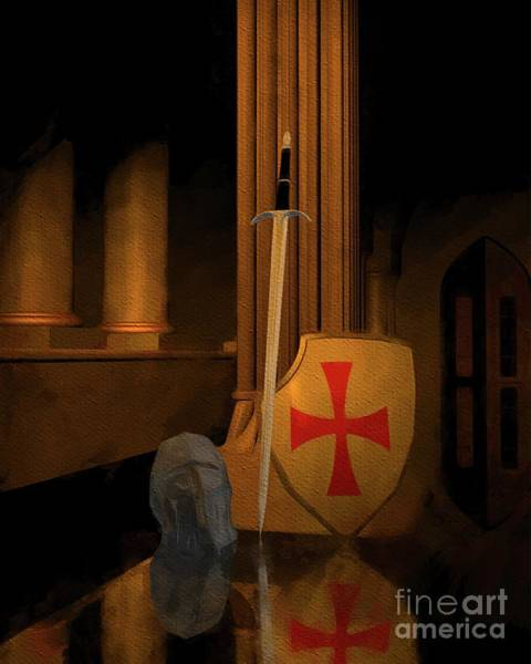 Wall Art - Painting - Time Of The Templars by Sarah Kirk