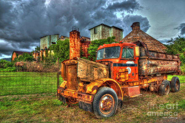 Photograph - Time Tested Rust Old Koloa Sugar Mill Sunset Kauai Collection Art by Reid Callaway