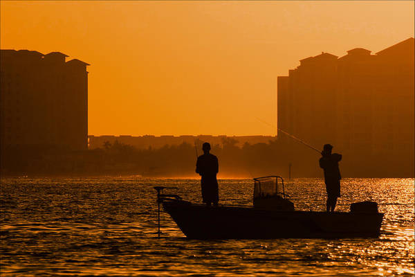 Photograph - Fishing In Golden Sunset At San Carlos Pass by Ginger Wakem