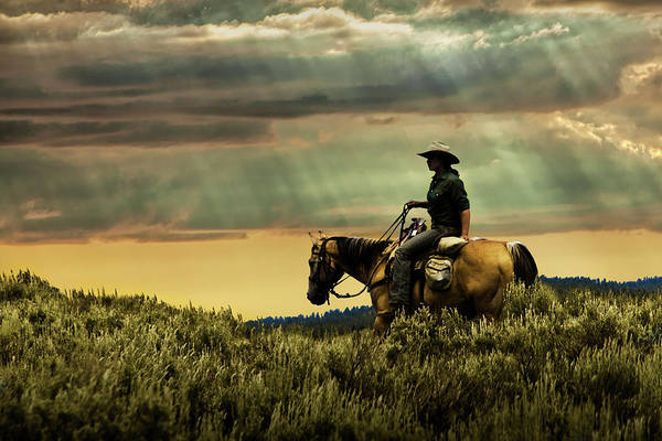 Photograph - Time To Head Back To The Ranch by Randall Nyhof