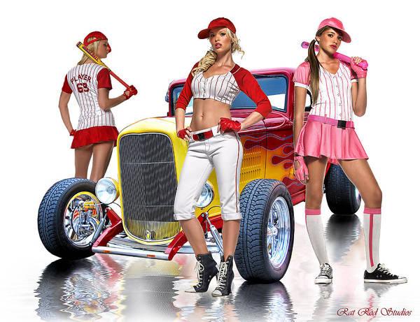 Hot Rod Digital Art - Time To Play Ball .... by Rat Rod Studios