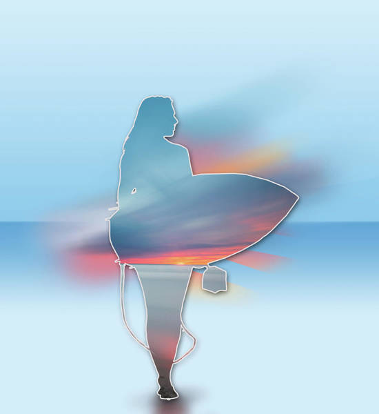Wall Art - Digital Art - Time To Surf 2 by Bekim M
