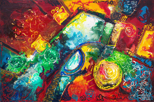 Painting - Time Warp by Sally Trace