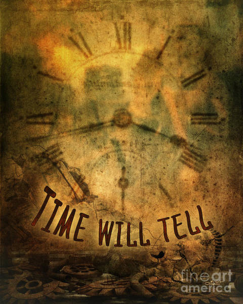 Digital Art - Time Will Tell by Jutta Maria Pusl