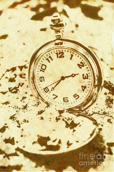 Dirty Photograph - Time Worn Vintage Pocket Watch by Jorgo Photography - Wall Art Gallery
