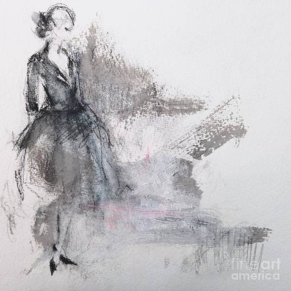 Fashion Drawing - Self Reflection by Andrea Stajan-Ferkul