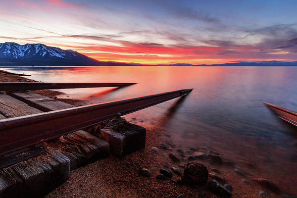 Wall Art - Photograph - Timeless Sunset Launch Into Tahoe by Mike Herron