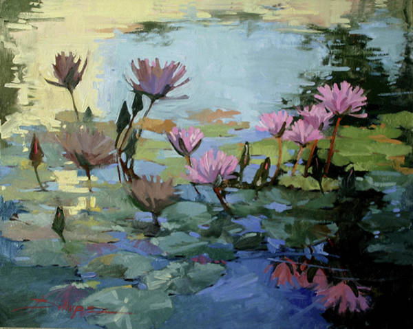 Painting - Times Between - Water Lilies by Betty Jean Billups