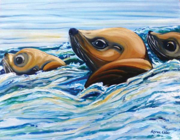 Spawn Painting - Times Right by Karen Elder
