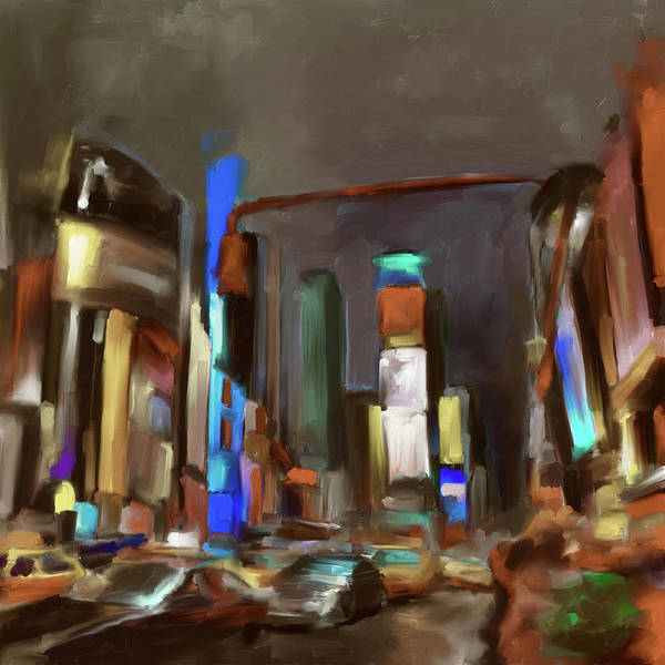 Chinatown Painting - Times Square 561 3 by Mawra Tahreem