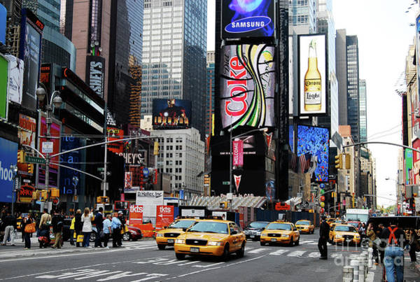 Cesar Wall Art - Photograph - Times Square by Cesar Marino