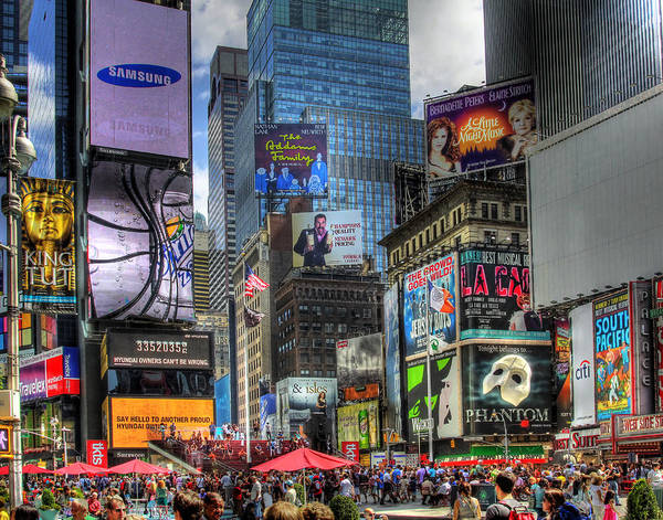Faces In The Crowd Wall Art - Photograph - Times Square by Joe Paniccia