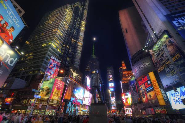 Times Square Moonlight Art Print