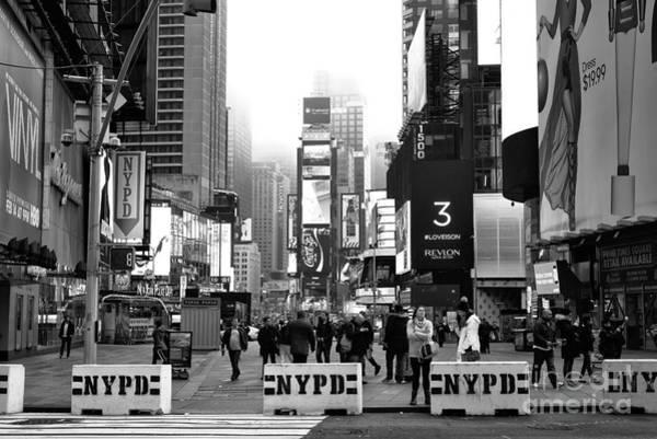 Wall Art - Photograph - Times Square Morning 2015 by John Rizzuto